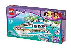LEGO® Friends Dolphin Cruiser Yacht with Minifigures Mia, Maya, & Andrew | 41015