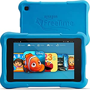 "Fire HD 7 Kids Edition, 7"" HD Display, Wi-Fi, 8 GB, Blue Kid-Proof Case from Amazon"