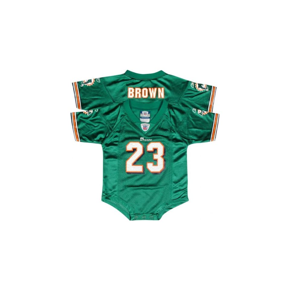 9ae1e4b40 Ronnie Brown Aqua Reebok NFL Miami Dolphins Infant Jersey on PopScreen