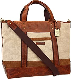 FRYE Men's Harvey Tote Canvas Antique Pull Up Tote by Frye Handbags