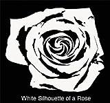 Vinyl Wall Decal Sticker White Rose Pattern #365