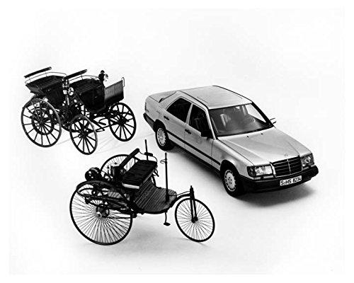 1986-mercedes-benz-300e-1886-benz-3wheeler-daimler-4wheeler-photo-poster