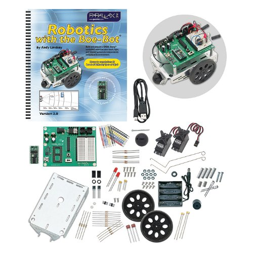 Parallax-28832 Programmable Boe-Bot Robot Kit - USB Version (non-solder)