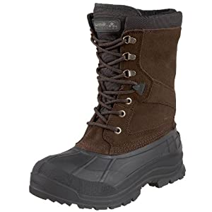 Kamik Men's Nationwide Waterproof Winter Boot, Dk Brown, 7