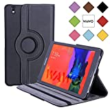 WAWO Creative 360 Degree Rotation Smart Cover Case for Samsung Galaxy Tab PRO 8.4 Inch Tablet -Black