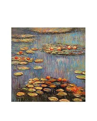 Arte dal Mondo muurschildering Monet Ninfee