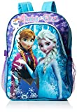 Disney Girl's Frozen Deluxe Backpack with Lunch Kit, Blue, One Size