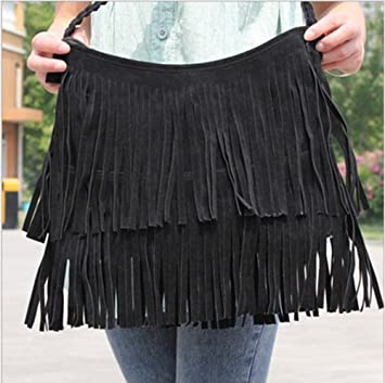 Celebrity Fringe Tassel Shoulder Messenger Bag 68