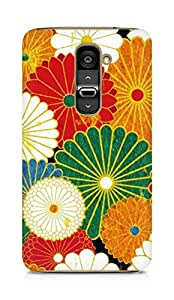 Amez designer printed 3d premium high quality back case cover for LG G2 (Flowers Colourful 2)