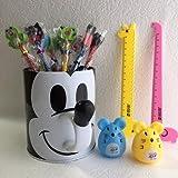 【K-mall】可愛い消しゴム付鉛筆(9本)と 定規(2本)と 鉛筆削り(2個)セット