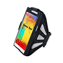 Hooshion Running Jogging Sports GYM Mesh Armband Case Holder for Samsung Galaxy Note 2 II N7100 Note 3 III N9000 (Gray)