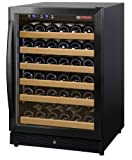 Allavino MWR-541-BR 51 Bottle Wine Cellar Refrigerator - Black Door