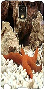 Snoogg Starfish Designer Protective Back Case Cover For Samsung Galaxy Note 3