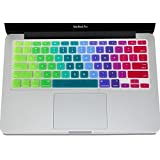 Se7enline Rainbow Color Unique Ultra Thin Durable Keyboard Cover Silicone Skin (US Layout) For MacBook Pro With...