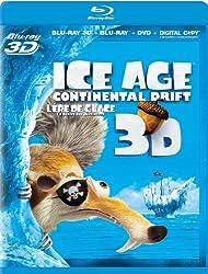 Ice Age: Continental Drift 3D (Bilingual) [Blu-ray 3D + Blu-ray + DVD + Digital Copy]