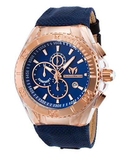 technomarine-tm-115176-mens-cruise-blueray-chron-blue-nyl-dial-rose-tone-ss-trnslcnt-sil-watch