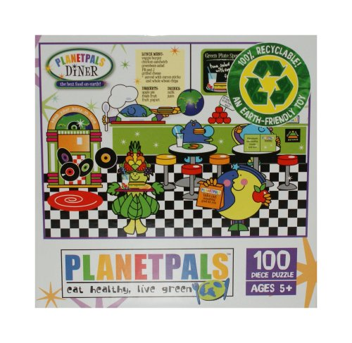 PlanetPals Eat Healthy Live Green DINER Recycled Puzzle 100 Pieces - 1