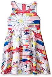 Kensie Baby Scuba Knit Skater Dress, Floral Print, 12 Months