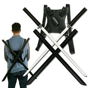 Amazon.com : Ace Martial Arts Supply Leonardo Dual Ninja Swords with