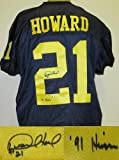 Desmond Howard Autographed Michigan Wolverines Jersey at Amazon.com