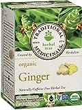 Traditional Medicinals Organic Ginger Tea, 16 Tea Bags (Pack of 6)