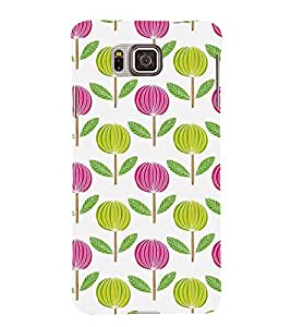 ANIMATED DUAL COLOURS FLOWERS PATTERN 3D Hard Polycarbonate Designer Back Case Cover for Samsung Galaxy Alpha G850