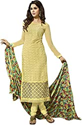 Zohra Vol 2 Women's Georgette Unstitched Dress Material(54006, Yellow)