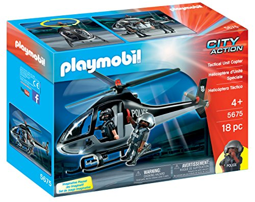 PLAYMOBIL Tactical Unit Copter Playset JungleDealsBlog.com