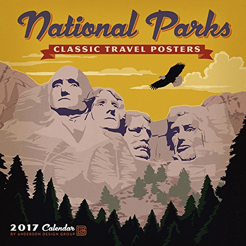 National Parks Classic Posters 2017 Wall Calendar