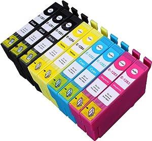 9 Multipack de alta capacidad Epson T1285 Cartuchos Compatibles 3 negro, 2 ciano, 2 magenta, 2 amarillo para Epson Stylus Office BX305F, Stylus Office BX305FW, Stylus Office BX305FW Plus, Stylus S22, Stylus SX125, Stylus SX130, Stylus SX230, Stylus SX235W, Stylus SX420W, Stylus SX425W, Stylus SX430W, Stylus SX435W, Stylus SX438W, Stylus SX440W, Stylus SX445W. Cartucho de tinta . T1281 , T1282 , T1283 , T1284 © 123 Cartucho  Oficina y papelería Comentarios de clientes y más información