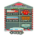 51X3f0krbKL. SL160  Melissa &amp; Doug Wooden Train Cars Set