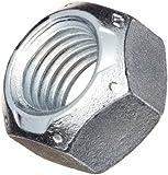 Steel Lock Nut, Zinc Plated Finish, Grade C, Right Hand Threads, Top Lock, Inch