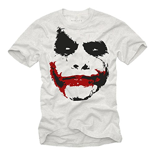 Maglietta uomo bianco - T-shirt Joker Batman M