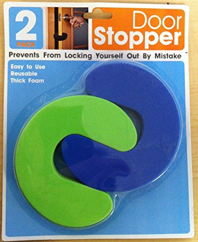 2 Pack Door Stopper Flexible Reusable Thick Foam