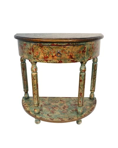 New World Trading Ricardo Console, Green Turquoise