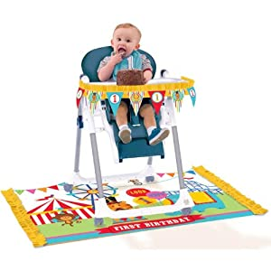 Fisher Price Circus 1st Birthday High Chair Decorating Kit