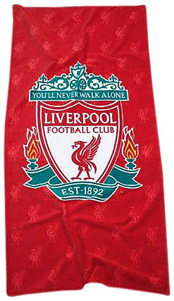 Zap Liverpool Red Crest Printed Towel