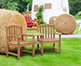 Gloucester Teak Love Seat - Tete a Tete Companion Bench - Jati Brand, Quality & Value