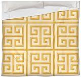 Thumbprintz Duvet Cover, Twin, Yellow Greek Key