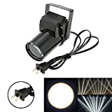 Docooler AC 90-240V 3W Mini LED Single Color Beam Pinspot Spotlight Effect Stage Light Lamp for Shop Bar Party Blind Corner