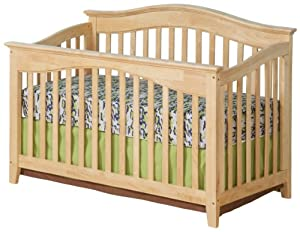 Atlantic Furniture Windsor Convertible Crib, Natural Maple