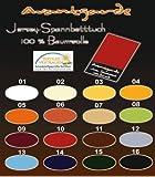Wasserbetten Jersey Spannbettlaken SPANNBETTTUCH AVANTGARDE 100% Baumwolle, WASSERBETT Bettlaken 90x200 bis 100x220