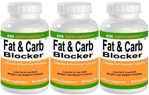 3 bouteilles de graisse et Carb Blocker avec