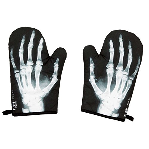 Skeleton Hand Bones Oven Mitt Set