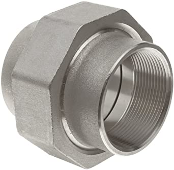 Stainless Steel 316 Pipe Fitting, Union, Class 1000, NPT Female
