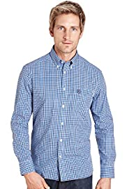 Blue Harbour Pure Cotton Mini Gingham Checked Shirt