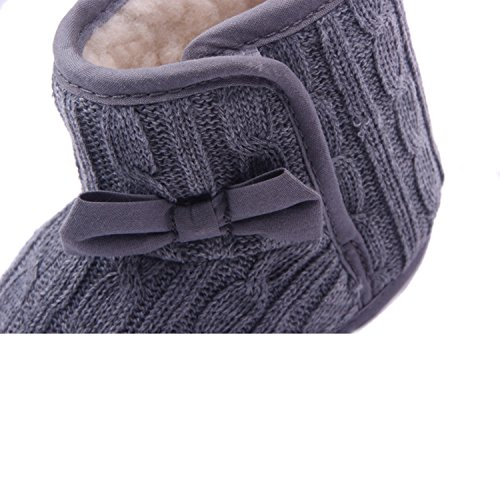 Baby Girl Soft Sole Anti Slip Prewalker Shoes Snow Boots With Bowknot