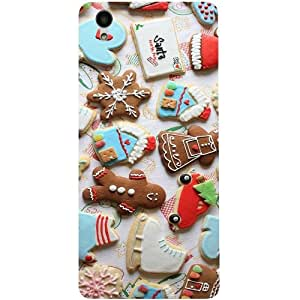 Casotec New Year Cookies Design 3D Printed Back Case Cover for Vivo Y51L