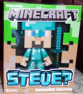 Jinx Minecraft Diamond Steve Vinyl Figure Licensed In Package