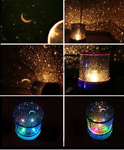 Dayan Led Star Light Moon Night Light Colors Lamp Projector Master For Kids Bedroom Home Decoration